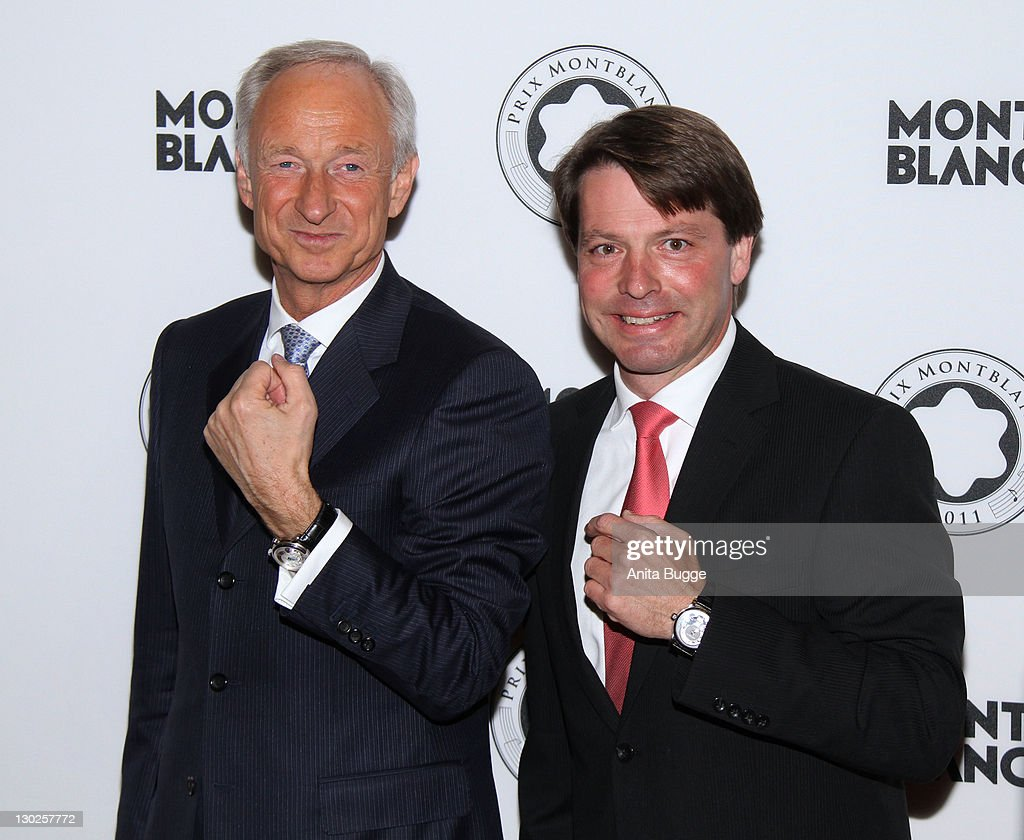 <a gi-track='captionPersonalityLinkClicked' href=/galleries/search?phrase=Lutz+Bethge&family=editorial&specificpeople=702473 ng-click='$event.stopPropagation()'>Lutz Bethge</a>, CEO of Montblanc International, and guest attend the Prix Montblanc 2011 event at the Konzerthaus Gendarmenmarkt on October 25, 2011 in Berlin, Germany.