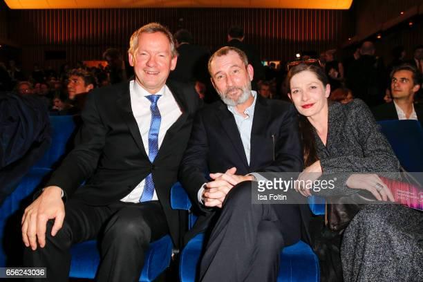 Lutz Marmor Indendant NDR austrian actor Heikko Deutschmann and his wife german actress Iris Boehm attend the Deutscher Hoerfilmpreis at Kino...