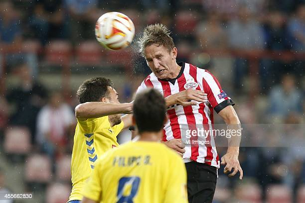 Luuk de Jong of PSV during the UEFA Europa League match between PSV and GD Estoril Praia on September 18 2014 at the Philips stadium in Eindhoven The...