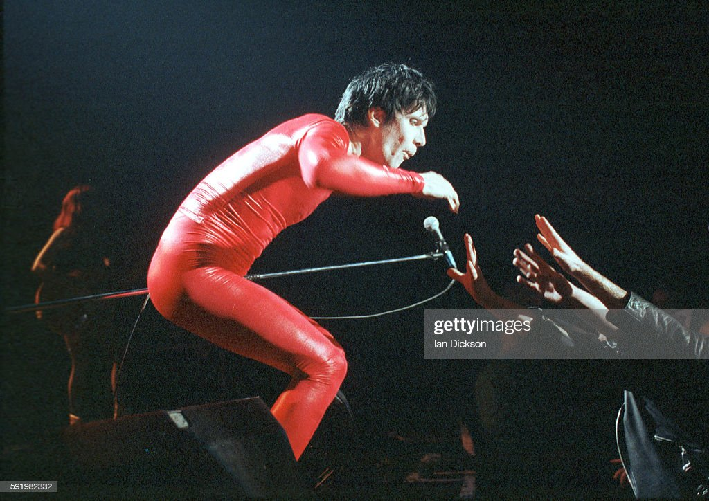 Lux Interior of The Cramps performing on stage at The Forum Kentish Town London 29 October 1991