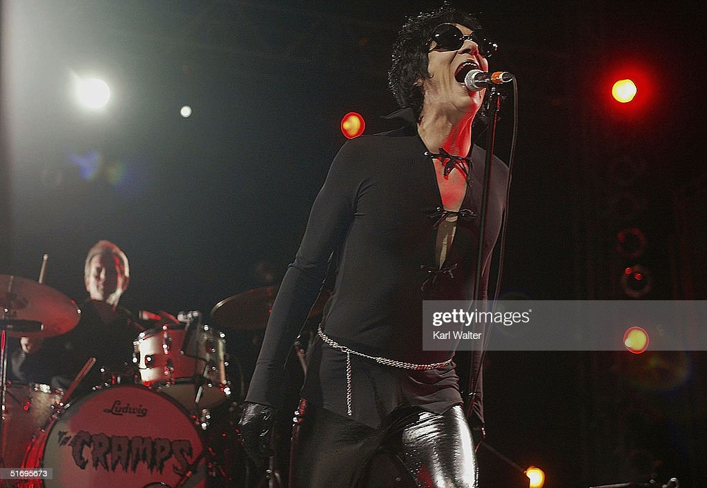 Lux Interior (Erick Purkhiser) of the Cramps performs at All Tomorrow's Parties at the Queen Mary on November 7, 2004 Los Angeles, California. The two day music festival was curated by Modest Mouse.