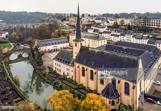 Luxembourg city Neumunster Abbey, Alzette River