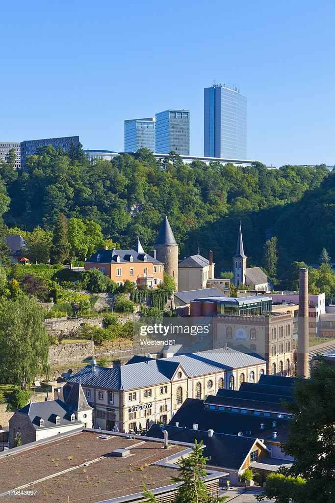 Luxembourg, Clausen district and European quarter in background