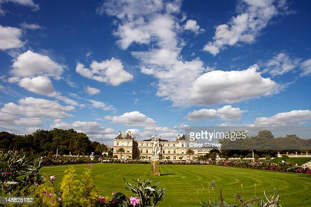 Luxembourg Gardens with Palais du Luxembourg.