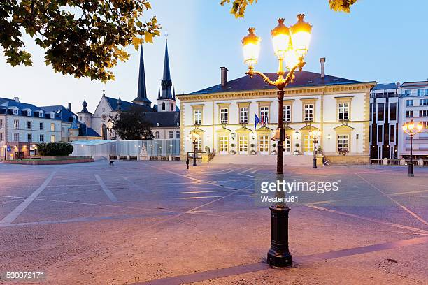 Luxembourg, Luxembourg City, City Hall at Place de Guillaume II in the  morning light