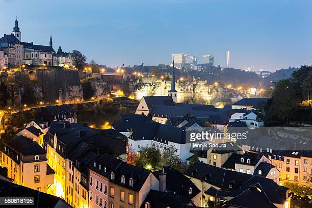 Luxembourg, Luxembourg City, Neumunster Abbey and St Michaels Church