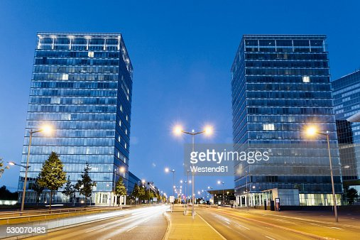 Luxembourg, Luxembourg City, Porte de l'Europe by night