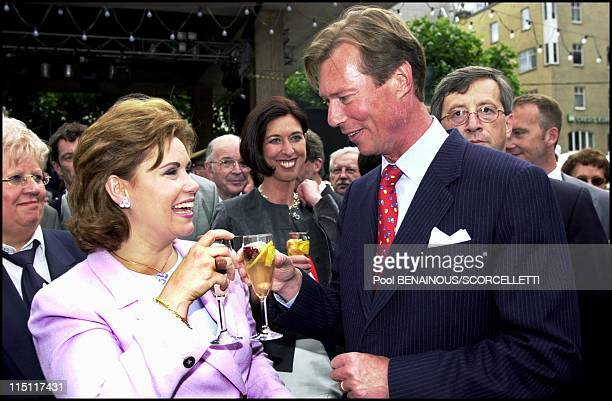 Luxembourg National day in Luxembourg on June 22 2000 Henri of Luxembourg and wife Maria Teresa