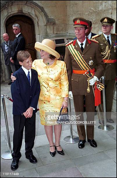 Luxembourg National day in Luxembourg on June 22 2000 Henri of Luxembourg Maria Teresa and son