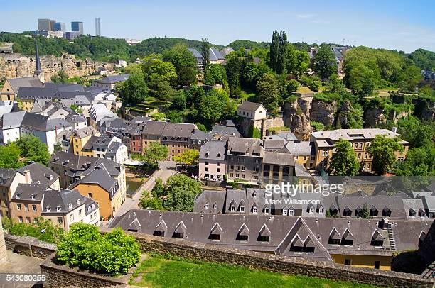 Luxembourg old town from above.
