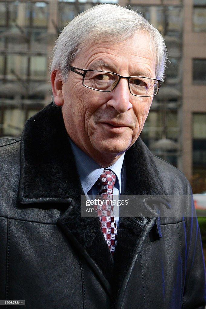 Luxembourg Prime Minister Jean-Claude Juncker arrives at the EU Headquarters on February 7, 2013 in Brussels, on the first day of a two-day European Union leaders summit. European Union leaders head into a fresh clash over the EU's budget with the only certainty being that proposals for several years will be cut back.
