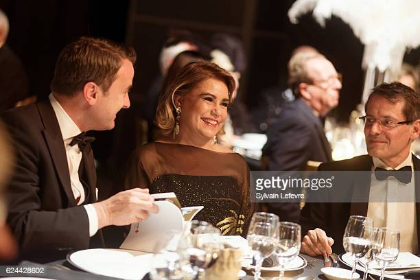 Luxembourg Prime Minister Xavier Bettel and Grand Duchess Maria Teresa of Luxembourg attend 20th Luxembourg Red Cross Ball Gala on November 19 2016...