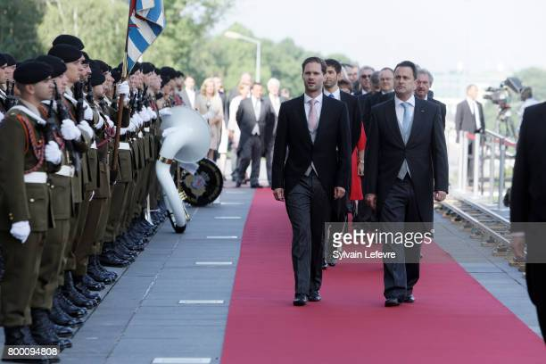 Luxembourg prime minster Xavier Bettel and his husband arrive at Luxembourg Philarmonie hall for official reception of National Day on June 23 2017...