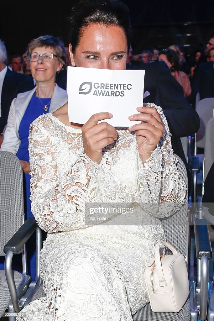 Luxembourgian Moderator Desiree Nosbusch attends the Green Tec Award at ICM Munich on May 29, 2016 in Munich, Germany.