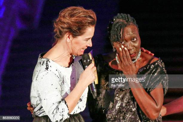 Luxembourgian presenter Desiree Nosbusch and Auma Obama halfsister of former US president Barack Obama during the Minx Fashion Night in favour of...