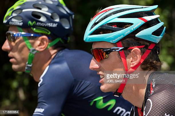 Luxembourg's Andy Schleck rides during the 213 km first stage of the 100th edition of the Tour de France cycling race on June 29 2013 between...