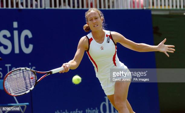Luxembourg's Anne Kremer in action