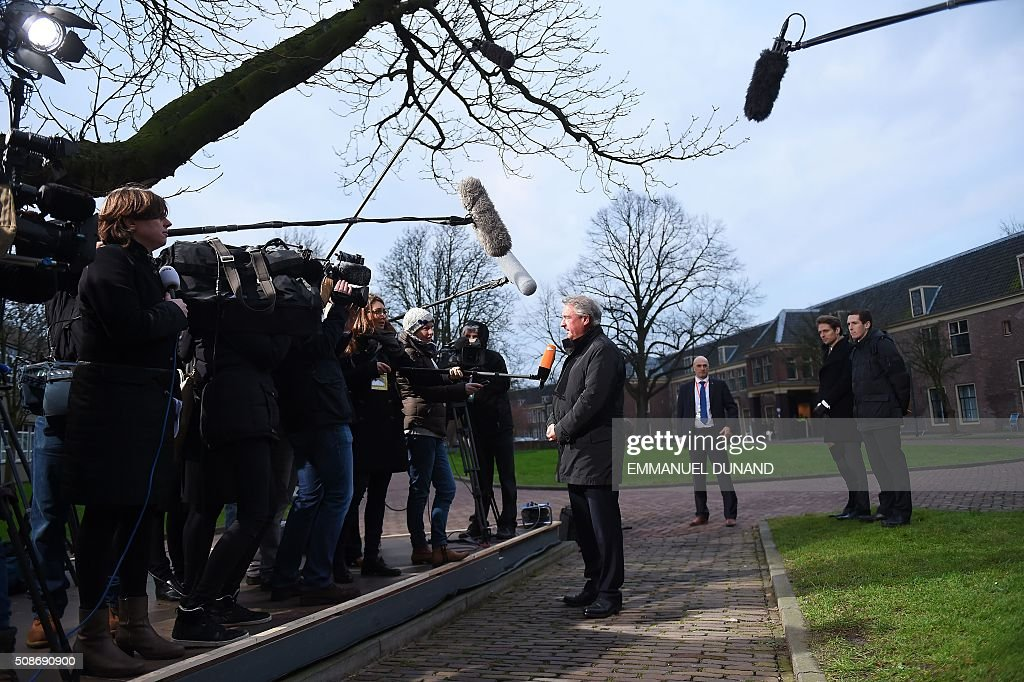 Luxembourg's Foreign Minister Jean Asselborn speaks to the press during a EU council foreign ministers meeting in Amsterdam, on February 6, 2016. / AFP / EMMANUEL DUNAND