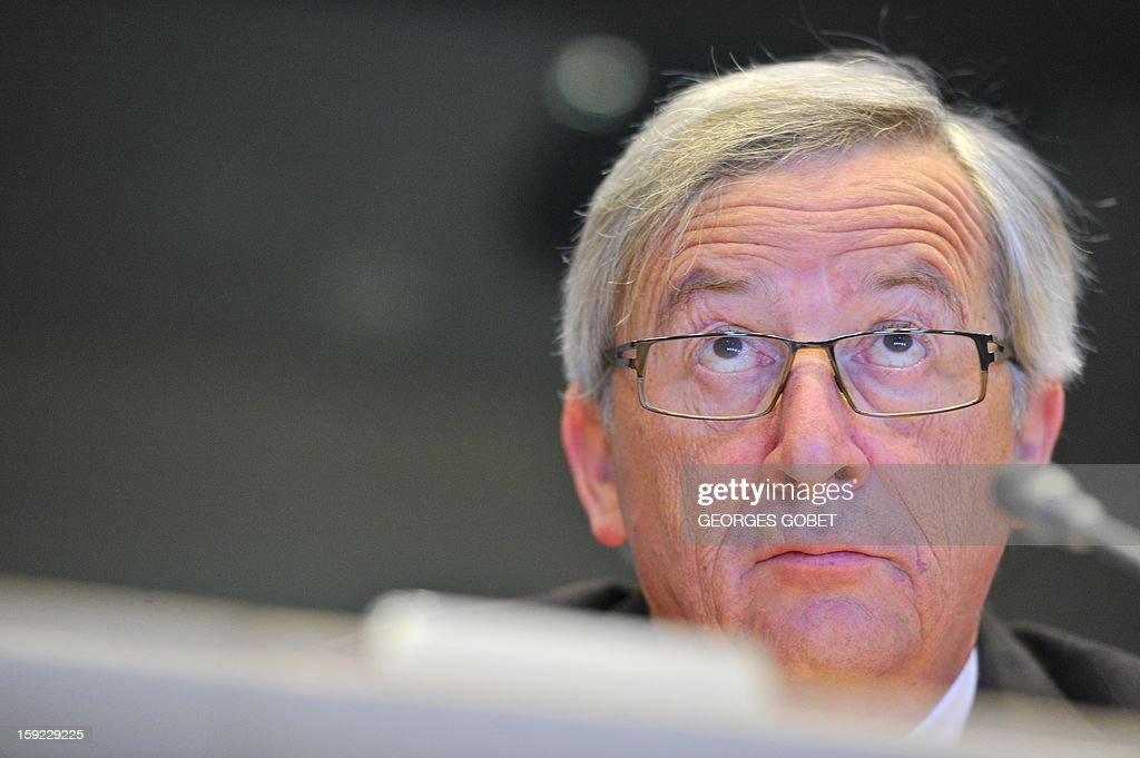 Luxembourg's Prime Minister and Eurogroup president Jean-Claude Juncker attends the commission meeting on 'Economic and Monetary Affairs' of the European Parliament on January 10, 2013, at the EU headquarters in Brussels. Jean-Claude Juncker will present his analysis of the political, economic and financial conditions in the euro area and answer questions from members of the EP Commission.