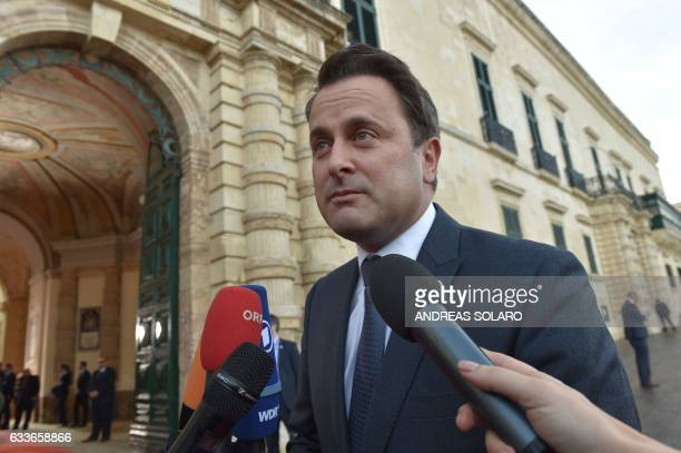 Luxembourg's Prime Minister Xavier Bettel arrives for an European Union summit on February 3 2017 in Valletta Malta European Union leaders will try...