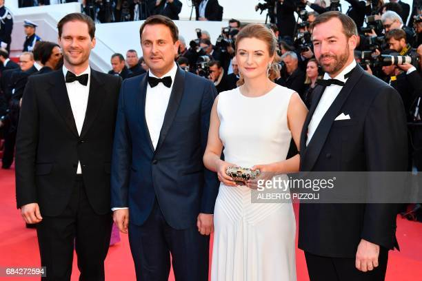 Luxembourg's Prime Minister Xavier Bettel his husband Belgian architecte Gauthier Destenay Prince Guillaume Hereditary Grand Duke of Luxembourg and...