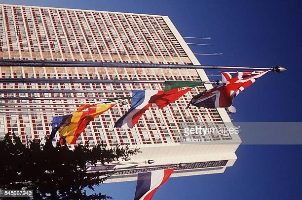 Luxemburg Stadt Europaturm auf demKirchbergplateau 1994