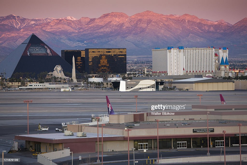 Luxor And Excalibur Hotels S From Mccarran International Airport The Strip Las Vegas