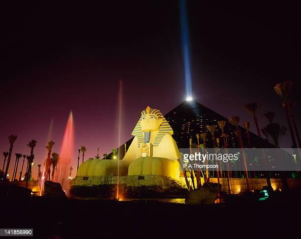 Luxor Hotel and Casino at Night, Las Vegas, Nevada, USA