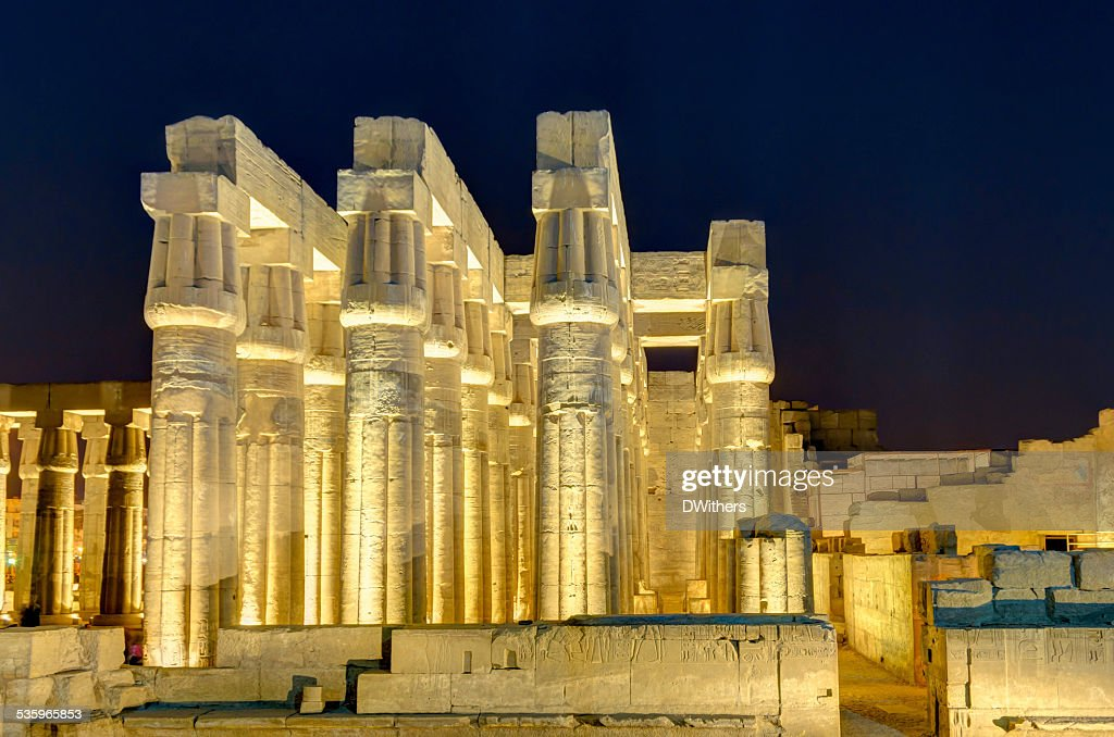 Luxor Temple at Night : Stock Photo