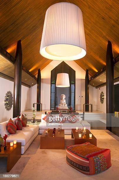 Luxurious Asian dining room in a tropical villa