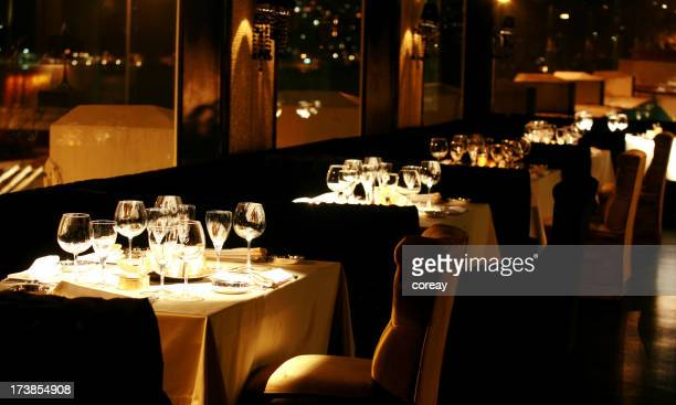 luxurious dinner table and restaurant