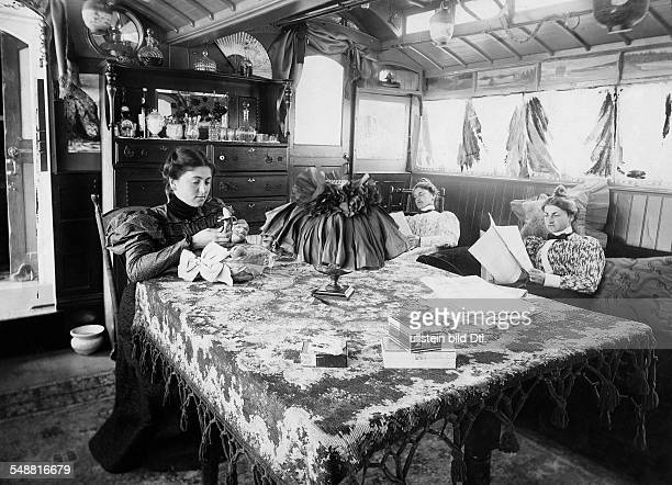 Luxurious furnished caravan a former tram wagon undated Photographer George G Bain Published by 'Berliner Illustrirte Zeitung' 46/1903 Vintage...