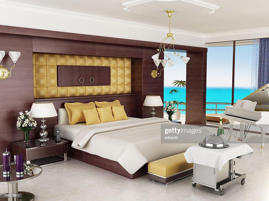 Luxuri se hotelzimmer undoder die flitterwochensuite stock for Hotelzimmer teilen