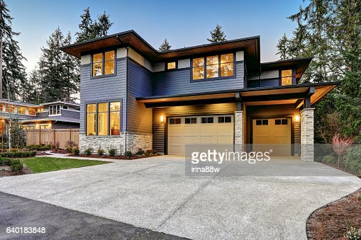 Luxurious new construction home in Bellevue, WA : Stock Photo