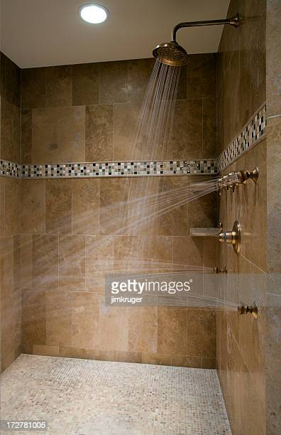 Luxurious running shower.