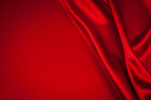 luxurious red satin background closse up
