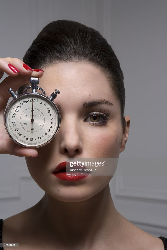 Luxurious woman and plastic surgery moment : Stock Photo