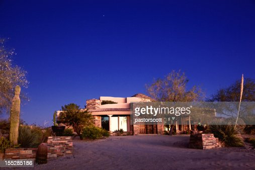 De luxe au sud-ouest de la maison dans le désert de l'Arizona du nord de Scottsdale