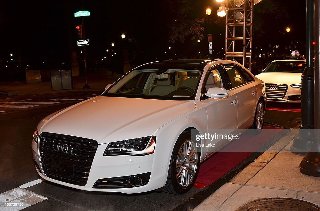 Luxury Audi cars parked in front of Barclay Prime during Philadelphia Style Magazine Cover Event Hosted By Chris Matthews on November 19, 2012 in Philadelphia, Pennsylvania.