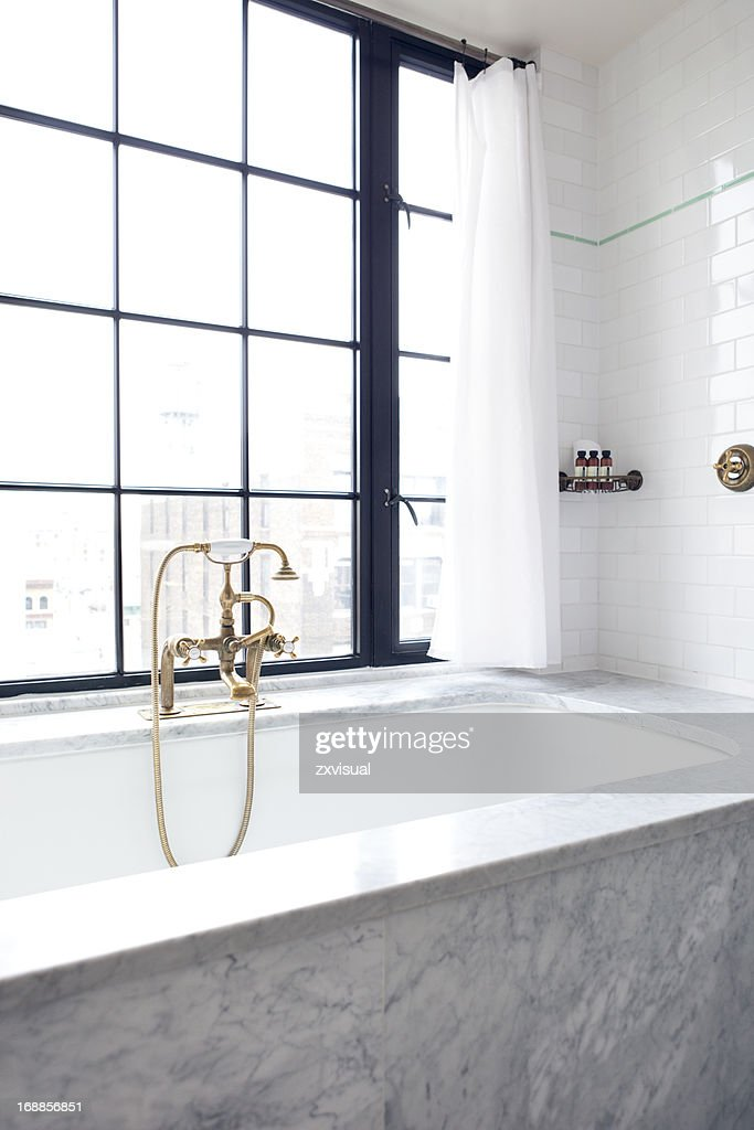 Luxury Bath at Bowery Hotel New York City : Stock Photo