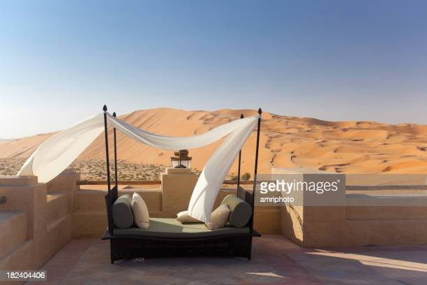 luxury bed in the desert