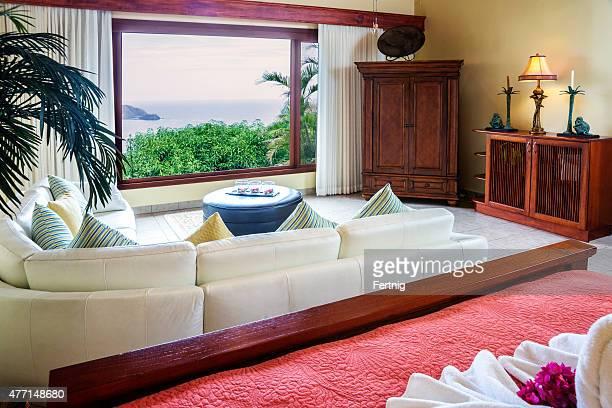 Luxury bedroom villa overlooking the ocean