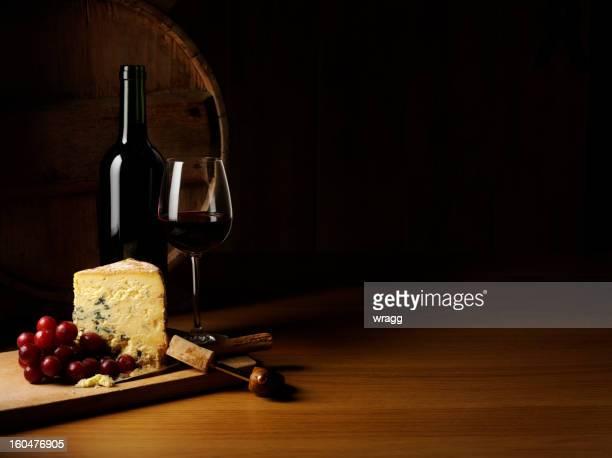 Luxus-Käse und Wein