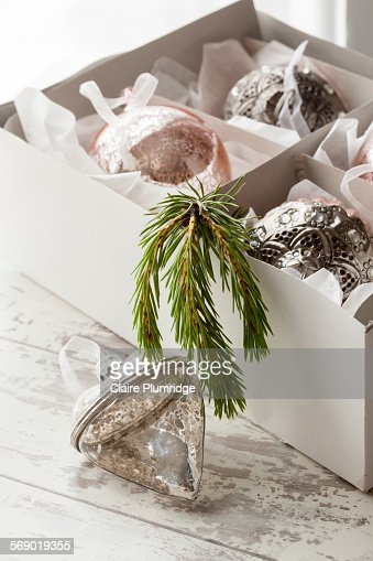 luxury christmas decorations stock photo