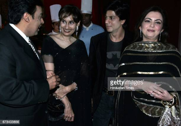 Luxury Conference Mukesh Ambani Shobhana Bhartia Shahrukh Khan and Neeta Ambani