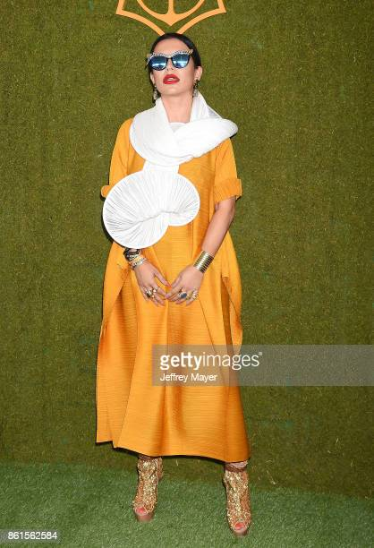 Luxury consultant Aureta Thomollari attends the 8th Annual Veuve Clicquot Polo Classic at Will Rogers State Historic Park on October 14 2017 in...