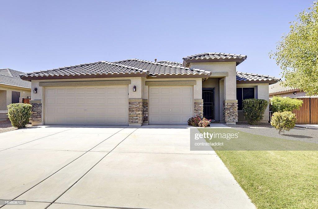 Luxury Desert Home : Stock Photo