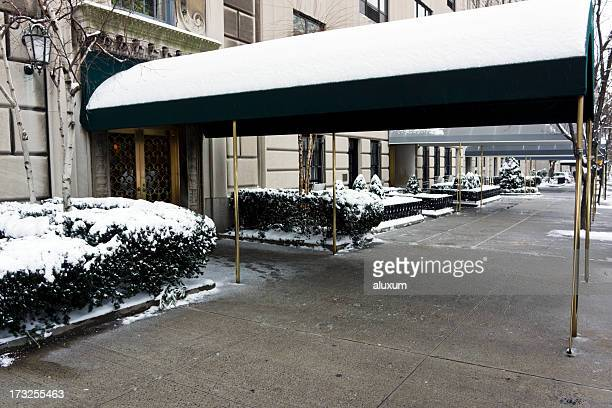Luxury entrance in Fifth Avenue New York City