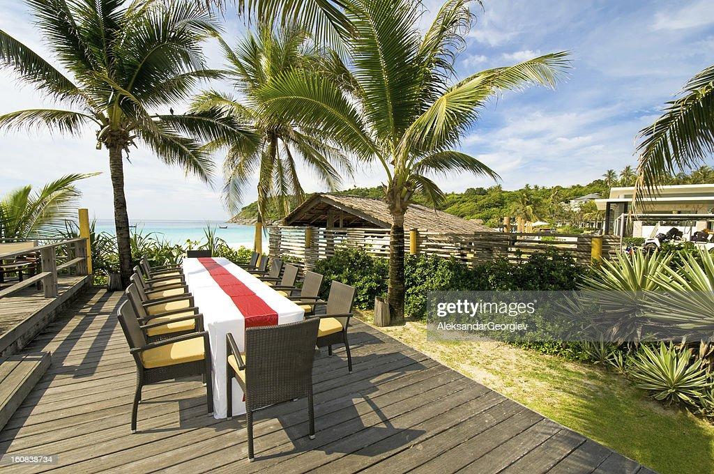 Luxury Exotic Resort on Tropical Island : Stock Photo