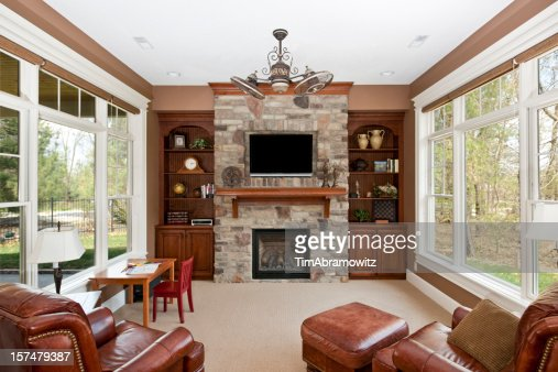 Luxury Family Room Stock Photo Getty Images